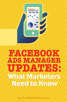 Do you use Facebook's Ads Manager to create ads?  Have you noticed the recent changes?  In this article, you'll discover how to navigate the updated Facebook Ads Manager and leverage its new features. Via @smexaminer. Facebook Ads Manager, Facebook Marketing Strategy, Social Media Marketing, Digital Marketing, Marketing Strategies, Marketing Tools, Internet Marketing, Instagram Advertising, Instagram Marketing Tips