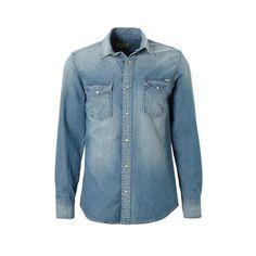 Jack & Jones Vintage slim fit overhemd Sheridan, Medium blauw