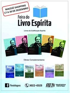 Feira do Livro Espírita, Maceió-AL - http://www.agendaespiritabrasil.com.br/2016/12/18/feira-do-livro-espirita-maceio-al/