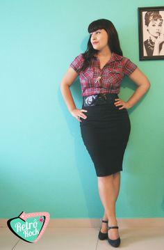 .Estilo Retrô Rock. Quero uma saia igual à da Aline! 70 reais, loja virtual.