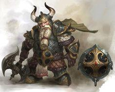 Dwarf Worrior, Matthew Park on ArtStation at… More