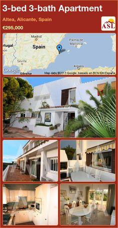 3-bed 3-bath Apartment in Altea, Alicante, Spain ►€295,000 #PropertyForSaleInSpain