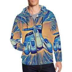 Genie Smoke Bomb All Over Print Full Zip Hoodie for Men (Model H14)