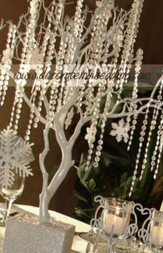 I love that you can really works with this, change it for the occasion and make it your own. Simple, easy and elegant. I have one of these on my display tables as the focal point at bridal shows. Snowflake Wedding, White Snowflake, Tree Wedding, Wedding Wishes, Wedding Decorations, Christmas Decorations, Christmas Crafts, Merry Christmas, Wedding Colors