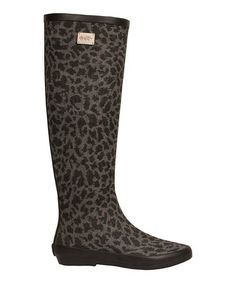 Gray Animal Knee-High Rain Boot - Women by däv on #zulily