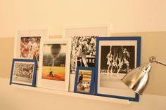 Windgate Lane: Framed Sports Memorabilia- Ikea frames- Used Bookstore pics