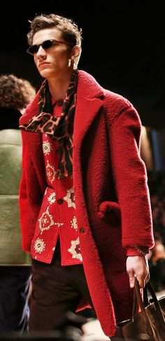 Deep colours and vibrant prints on the Burberry Menswear runway