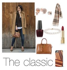 """Classy"" by beautyqueen10 ❤ liked on Polyvore featuring GUESS, Burberry, OPI, Dolce&Gabbana, Blue Nile, Yves Saint Laurent and Recover"