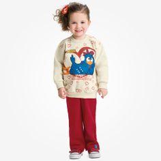 Estampas lindas para os pequenos ficarem ainda mais estilosos. #malwee #galinhapintadinha