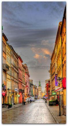 La calle Grodzka, Cracovia, Polonia