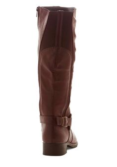 Cook-Off Confidence Boot. Your chili recipe has been tested and perfected, and standing behind your booth in these chestnut-brown boots, you feel ultra confident! #brown #modcloth