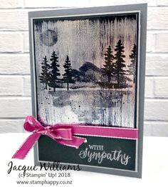 Black Ice is a great, easy technique to create a real wow look to your projects! I've used it here to create a sophisticated, subdued sympathy card paired with the Waterfront stamp set: Even on a sympathy card, it's...Read more