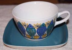 Clupea Figgjo Flint Turi Gramstad Oliver Norway TEA CUP and SAUCER