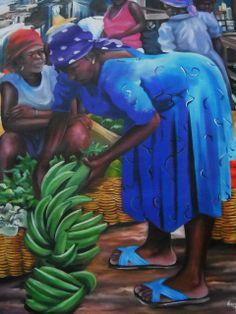 Haitian Art African American Artwork, Native American Art, Jamaican Art, Afrique Art, African Art Paintings, Haitian Art, Caribbean Art, Black Art Pictures, Art Africain