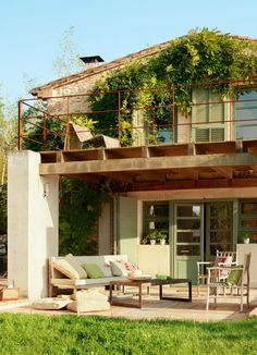 Refurbished old rustic barn in Spain - beautiful house with recycled bits, click through for more pics