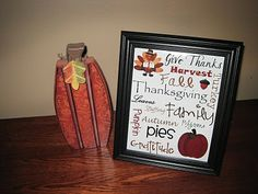 Thanksgiving Printable @ http://bunchofcraft.blogspot.com/2010/11/thanksgiving-subway-art-printable.html