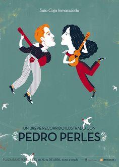 La Sala Caja Inmaculada expone, hasta el 24 de abril, un breve recorrido ilustrado con Pedro Perles.