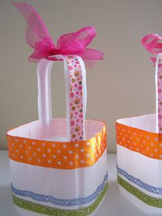 TrashN2Tees: Recycled Milk Jug Easter Baskets Tutorial