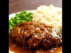 "This homemade Salisbury steak from scratch is worlds away from what you'll find in the freezer aisle and is ""lick-the-plate"" good."
