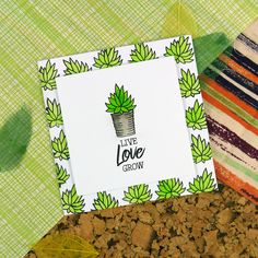 Card created using For the Love of Stamps Prickly Plants Stamp Set
