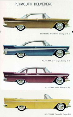 1957 Plymouth Belvederes.