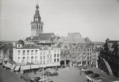 Grote Markt, Nijmegen 1955 Dutch Still Life, Was, Old City, Modern Architecture, Paris Skyline, Old Things, Building, Places, Travel