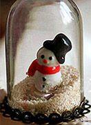 snowman snow sand miniature glass dome pendant jewelry