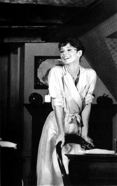 """"""" Audrey Hepburn on the set of The Children's Hour, 1961. Photograph by Bob Willoughby. (scan by rareaudreyhepburn from the book Remembering Audrey.) """""""