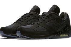 Nike Air Max 180 Black Volt first look sneakers footwear All Black Nikes, Black Neon, All Black Sneakers, Sneakers Nike, Air Max 180, Nike Air Max, New Nike Air, Sneaker Bar, Baskets Nike