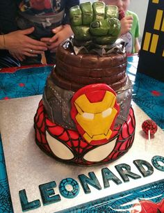 Torta Spiderman Iron man e Hulk