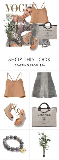 """Untitled #406"" by maytal-gazit on Polyvore featuring TIBI, Schutz and Chanel"