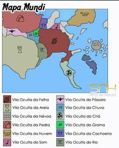Mapa Das Vilas Ocultas || Naruto