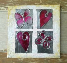 Hey, I found this really awesome Etsy listing at https://www.etsy.com/listing/179512517/hearts-flutterbies-embossed-pewter-with