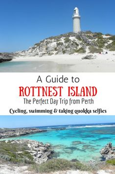Rottnest Island is the perfect day trip from Perth, Western Australia. It is a short ferry ride from Fremantle. You can go swimming, cycling and a great place for taking selfies with quokkas. Melbourne, Sydney, Brisbane, Australia Travel Guide, Perth Australia, Visit Australia, Western Australia, Australia Holidays, Great Barrier Reef
