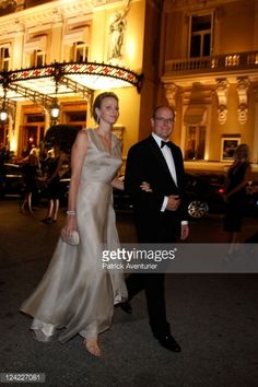 Princess Charlene of Monaco (wearing bracelet and earrings from the Montblanc Haute Joaillerie Riviera Collection) and H.S.H. Prince Albert II of Monaco attend the Montblanc 'Collection Princesse Grace de Monaco' World Premiere presentation under the High Patronage of H.S.H. Prince Albert II of Monaco at Monte-Carlo Opera on September 8, 2011 in Monte-Carlo, Monaco.