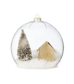 boule de Noël en verre grande - HEMA