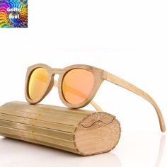 7677b052e99 New Fashion Retro Polarized Handmade Bamboo Wood Sunglasses