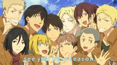 SnK: See you next season by deadTwinkies.deviantart.com on @deviantART JEAN EREN SASHA BERTHOLD ANNIE ETC
