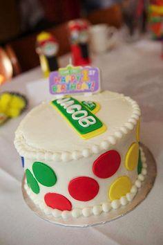 Cute Sesame Street cake at a Sesame Street themed birthday party via Kara's Party Ideas - THE place for ALL things PARTY! #sesamestreet #party #cake #idea