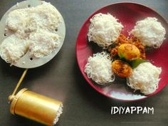 Idiyappam|String hoppers|Nool puttu|Sevai served with Kerala Egg Roast
