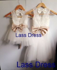 Ivory Tulle Lace Flower Girl Dress Infant Toddler Bridal Party Dress with Sash&Bow Bridal Party Dresses, Bridesmaid Dresses, Wedding Dresses, Lace Flower Girls, Flower Girl Dresses, Baby Dresses, Toddler Pageant, Elle Fashion, I Got Married