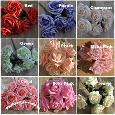 72 pz schiuma Rose artificiali fiori multicolore nozze forniture Wedding Decor…