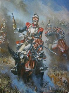 Waterloo 1815, Battle Of Waterloo, Le Colonel Chabert, Napoleonic Wars, Military Art, Illustration, Painting, Soldiers, Empire