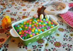 Easter Garden Brownies with Minty Green Frosting Recipe via I'll Take a Bite for Cost Plus World Market >> Easter Traditions, Recipes, Desserts, Entertainment ideas Yummy Treats, Delicious Desserts, Sweet Treats, Easter Recipes, Easter Ideas, Holiday Time, Holiday Ideas, Easter Garden, Easter Stuff