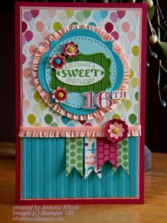 Sweet 16 by AEstamps2 - Cards and Paper Crafts at Splitcoaststampers