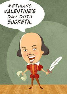 Shakespeare cartoon - Anti-Valentine's Day