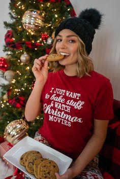 Comfy Holiday Jammies Xmas Movies, Movie Tees, Holiday Pajamas, Christmas Morning, Christmas Sweaters, Comfy, Fashion, Moda, Fashion Styles