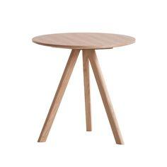 Tavolo rotondo Copenhague CPH20, 50 cm, rovere laccato