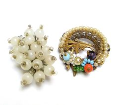 VINTAGE Dress CLIP Brooch LOT Haskell Style by DrivingMissMoppet