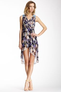 Very J | Very J Hi-Lo Printed Dress | Nordstrom Rack
